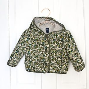 Baby Gap Lightweight Jacket Toddler floral flowers